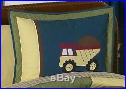 Sweet Jojo Designs Cheap Blue Construction Trucks Tools Boy Kid Twin Bedding Set