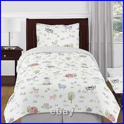 Sweet Jojo Designs Farm Animals Boy or Girl Twin Size Kid Childrens Bedding Comf