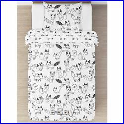 Sweet Jojo Designs Neutral Black and White Arrow Fox Girls Boys Twin Bedding Set
