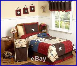 Sweet Jojo Designs Unique Cheap Western Horse Cow Boys Kid Twin Size Bedding Set