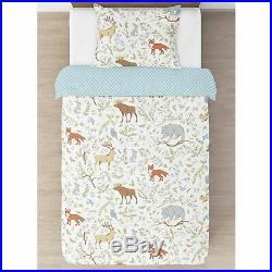 Sweet Jojo Gray White Forest Toile Childrens Girl Boy Twin Bedding Comforter Set