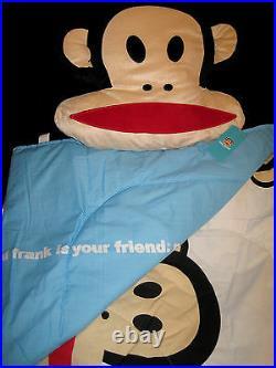 TWIN Paul Frank Julius & Friends Monkeys on White DECO PILLOW & COMFORTER SET