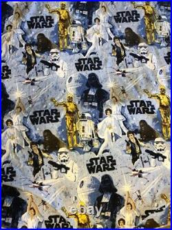 TWIN Pottery Barn STAR WARS QUILT w Fitted Sheet, Flat Top Sheet & 2 Pillowcases