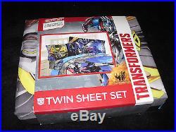 TWIN Transformers 4 Alien Machine 4-pc SHEET & COMFORTER SET