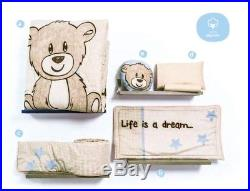 Teddy Bear Cute Collection Baby Boys Nursery Crib Bedding Set 6 Pcs Twin