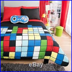 Tetris Kids Boys Reversible Comforter Set And Sheet Set 6 Pcs Twin