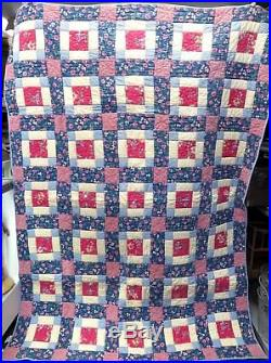 The Company Store Patchwork Floral Twin/Youth/Childrens Quilt 84 x 60