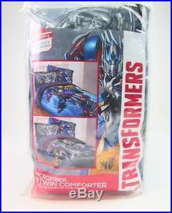 Transformers Optimus Prime Microfiber Twin Comforter Reversible Bed 64 X 86