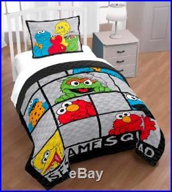 Twin Full Bedding Set Emo Quilt Sham Soft Boy Toddler Kids Sesame Street New