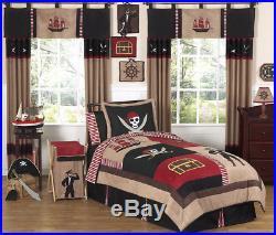 Unique Discount Red Black Pirate Kid Twin Bedding Set for Boy Sweet Jojo Designs