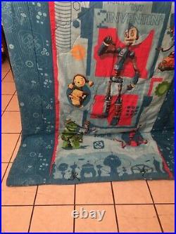 VGUC-RARE-VINTAGE-Robots Movie Twin Comforter Rodney Copperbottom Piper Bigweld