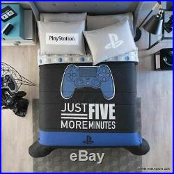 VIDEOGAME Comforter Reversible Bedding Gaming Teens TWIN BOY Control Black 2 PCs