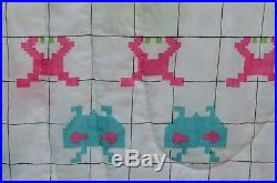 VTG 1982 Space Invaders Video Game Ninentendo Twin Full Bedspread Comforter