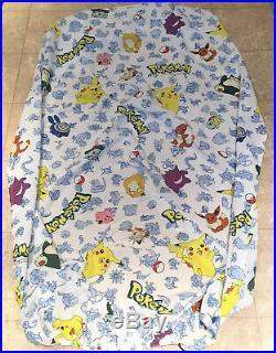 VTG Pokemon Twin Comforter Set 86x62 Fitted Sheet Sheet 2 Pillow Case 1998