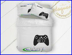 Video Game Bedding Set, Gaming Comforter for Boys, Kids Gamer Personalized