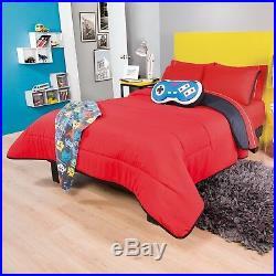 Videogame Teens Boys Reversible Comforter Set 3 Pcs Twin Size