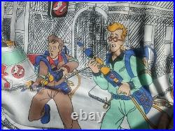 Vintage 1980s The Real Ghostbusters Cartoon Bed Sheet Set Twin Flat And Fitted