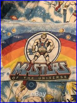 Vintage 1983 He-Man and Masters Of The Universe (MOTU) Twin Bedding Set Rare