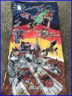 Vintage 1986 Transformers Small Sleeping Bag Hasbro More Than Meets Eye Cover