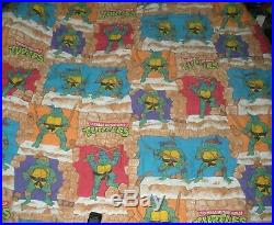 Vintage 1988 Teenage Mutant Ninja Turtles Twin Comforter Blanket 62x86