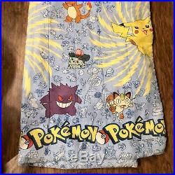 Vintage 1990s Nintendo Pokemon Twin Full Comforter 84x64 Blanket EUC