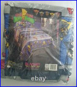Vintage 1994 Mighty Morphin Power Rangers Twin / Full Blanket 72 x 90 NEW NOS