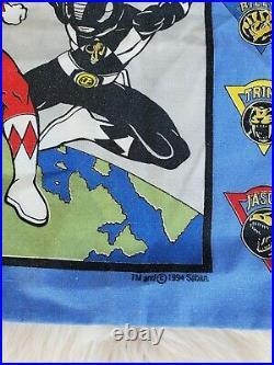 Vintage 1994 Mighty Morphin Power Rangers Twin Size Comforter Set