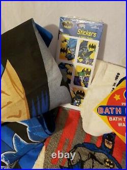 Vintage 80's Batman DC Comics 1989 Twin Bed Sheets, Towel Set, 1989 Toothbrush