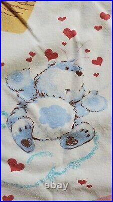 Vintage CARE BEARS Twin Sheet Set Flat Sheet and Fitted Sheet, No Pillowcase