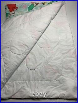 Vintage Disney Twin Size Comforter Bedspread The Little Mermaid ARIEL 90s RARE