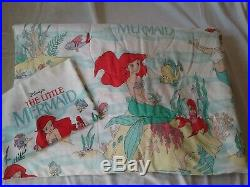 Vintage Disney Twin Size Comforter Set The Little Mermaid ARIEL 90s RARE