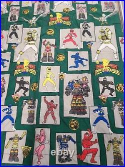 Vintage Mighty Morphin Power Rangers Full Comforter Blanket (Green Dot Pattern)