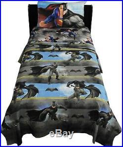 WHOLESALE BULK LOT 20 3pc BATMAN VS SUPERMAN TWIN SHEET SET Boy Heroes Bedding
