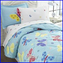 Wildkin Kids 5 Pc Twin Bed in A Bag for Boys and Girls Microfiber Bedding Set