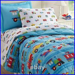 Wildkin Kids 5 Pc Twin Bed in A Bag for Boys and Girls, Microfiber Bedding Set I