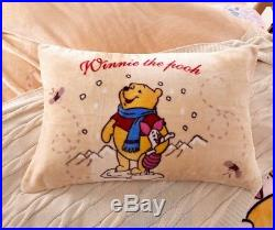 Winnie the Pooh Piglet Bedding Set for Girls and Boys Queen Full Twin Single