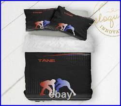 Wrestling Bedding Set, Wrestling Comforter Gift for Boys, Wrestling Room Decor