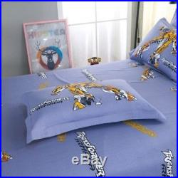 Yellow Transformers King Queen & Twin Size Duvet Cover Bedding Set Kids Boys